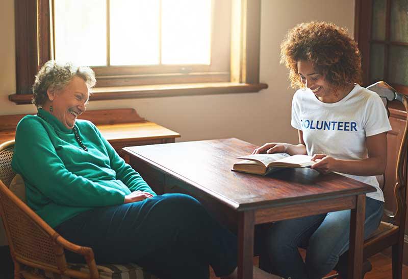 volunteer reading book